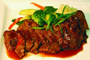 Asian marinated skirt steak from the Pocket Bistro. Photo courtesy Pocket Bistro.