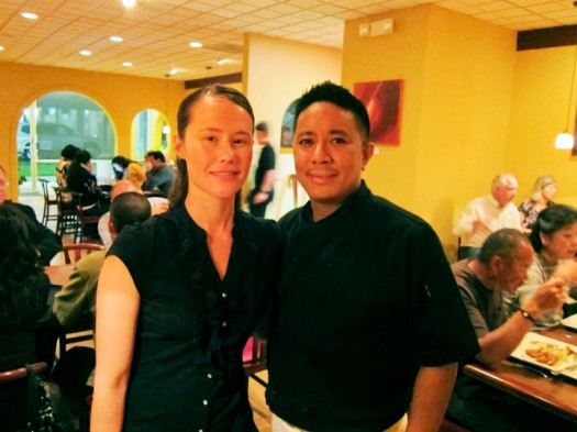 Jade and Edmund Abay in the Pocket Bistro. Photo courtesy Pocket Bistro.