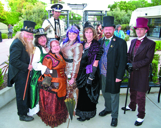 Members of the Sacramento Steampunk Society in costume. // Photos by Connie Ricca