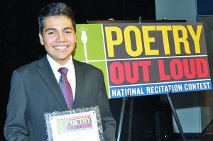 Henry Molina from John F. Kennedy High School, winner of the 2013 Sacramento County Poetry Out Loud competition. // Courtesy of the Sacramento County Office of Education