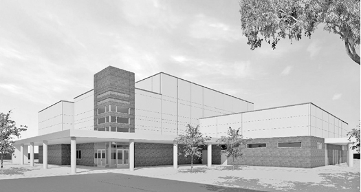 Rendering of the new performing arts center, slated to open spring 2014. Photo courtesy Christian Brothers High School.