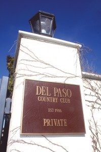 A sign outside the front gates of Del Paso Country Club boasts the club's 96-year history. Photo by Lance Armstrong