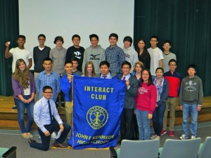 Charter members of the new Interact Club at John F. Kennedy High School, which was charted on February 13, 2013 in the Kennedy Little Theater. Photo courtesy Rotary Club of Pocket/Greenhaven.