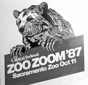 The annual ZooZoom 5k and 10k run fundraiser is featured in this 1987 advertisement. This year, the event will be held at William Land Park on April 14. Photo courtesy of Sacramento Public Library, Sacramento Room