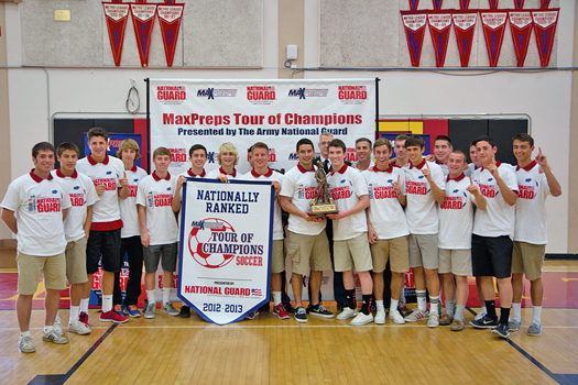 Jesuit soccer was ranked the number one team in the nation this past fall by MaxPreps. Shown here is the MaxPreps Tour of Champions presented by the National Guard. / Courtesy photo