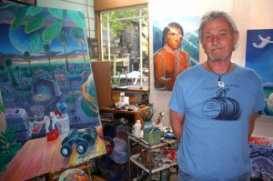 Hugh Gorman stands inside of his art studio in Fair Oaks. Photo by Lance Armstrong