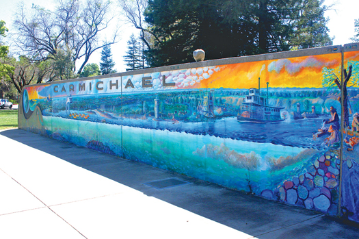 One of Hugh Gorman's most notable works is his 100-foot-long mural at Carmichael Park. Photo by Lance Armstrong