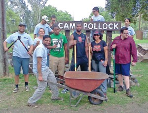 Volunteers at Camp Pollock, the former Boy Scout camp along the American River.  // Photo by Matt Gaylord