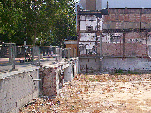 The city's original street level can be seen below a section of the K Street Mall in this 2007 photograph. Photo by Lance Armstrong
