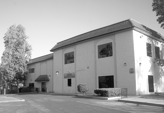 The Land Park Business Center at 1250 Sutterville Road sits on the former site of the Sutterville Brewery. Photo by Lance Armstrong
