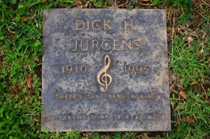 Dick Jurgens gained his fame as a prominent composer and big-band leader during the 1930s and 1940s. Photo by Lance Armstrong