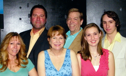 "Pictured is the cast of ""Showtune."" From the left: Dian Hoel, Dan Barrett, Chris Cay Stewart, Warren Harrison, Leah Sharer, Brady Tait. / Photo courtesy"