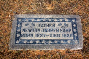 The gravesite of Newton Jasper Earp (1837-1928) is located on the west side of the cemetery. Photo by Lance Armstrong
