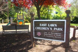 East Lawn Children's Park at the southeast corner of 42nd Street and Folsom Boulevard was constructed in 1989. Photo by Lance Armstrong