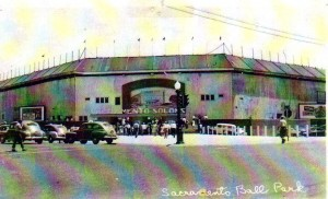 The original ballpark of the Sacramento Solons stands on the corner of Riverside Boulevard and Broadway. Photo courtesy of Alan O'Connor