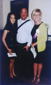 Scholarship winner Amanda Wong (left) stands alongside her father, and scholarship chair, Trish Setzer. Photo courtesy of Sacramento Pioneer Association