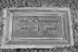Among the notable people interred at St. Mary's Cemetery was former California Senator Earl D. Desmond of Sacramento. Photo by Lance Armstrong