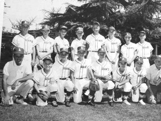Shown here is a photo of the 1959 Arden Park Little League All-Star team. Teammates recently met for a lunch reunion in the Arden area. Back row, left-to-right: Danny Segalis, Jeff Boroski, Chuck Cusack, Ric Williams, Rick Niello, Gary Foster, Eric French, Don Murphy. Front row, left-to-right: Coach Geandrot, Jack Stansfield, Jimmy Olson, Allan Davis, John Fuller, Bob Geandrot, Warren Bernoff, Coach Drennen.