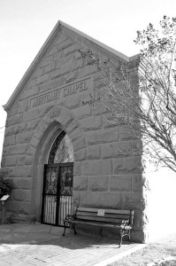 The cemetery's 120-year-old mortuary chapel houses the cemetery's official records. Photo by Lance Armstrong