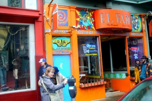 Pocket's El Faro Taqueria has longtime San Francisco roots. Shown here is the front of a sister business, located at 1654 Haight St. Photo by Monica Stark