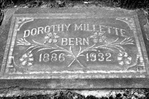 The grave of Dorothy Millette Bern is located at East Sacramento's East Lawn Memorial Park. Photo by Lance Armstrong