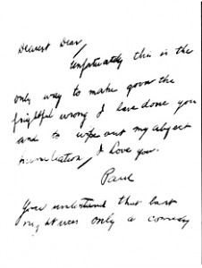 This alleged suicide note was left at the death scene of Hollywood film producer Paul Bern. public domain