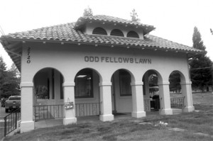 The Odd Fellows Lawn Cemetery is located at 2720 Riverside Blvd. Its office, shown above, is located just inside the cemetery's gates. Photo by Lance Armstrong