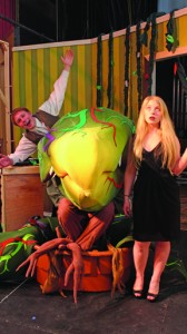 "Tylen Einweck and Evelyn White star in C. K. McClatchy's production of ""Little Shop of Horrors"", which begins on Monday, March 31 at 4 p.m."