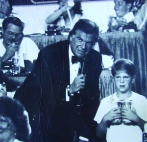 Stan Atkinson, shown at the center of this 1980s photograph, spent about 15 years dedicating his time to the Muscular Dystrophy Association telethon. Photo courtesy of Stan Atkinson