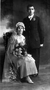 Tony and Maggie Pimentel are shown in their wedding photograph on Jan. 21, 1916. Photo courtesy of PHCS