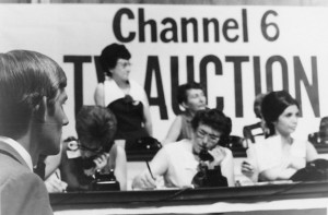 Volunteers donate their time during the 1965 KVIE auction. Photo courtesy of KVIE