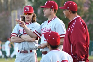 2012 Varsity Coaches Gordy Lahann, Coach Mike de Necocea and Kenny Munguia. Photo courtesy of C.K. McClatchy baseball