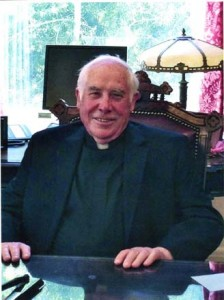 The Rev. Dan Madigan spent the last 25 years of his 50 years as a priest with the St. Joseph Parish of Clarksburg. Photo by Lance Armstrong