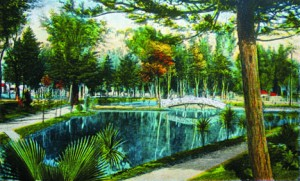 McKinley Park's water features are shown in this 1920s artist enhanced image. The Tuesday Club was involved in a project to have the site purchased and enhanced for the benefit of the community. / Photo courtesy of the Lance Armstrong Collection