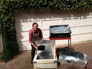 Shown here is Linda Hayward of Land Park from about four years ago, before the addition of her SunOven cooker. / Photo courtesy