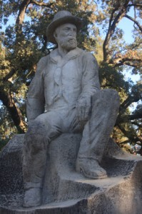 The Charles Swanston statue is among the various memorials at William Land Park.