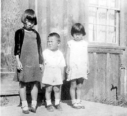 Lily, James and Emmie Kato are dressed up for an Independence Day gathering in this 1933 photograph. Photo courtesy of Emmie (Kato) Makishima