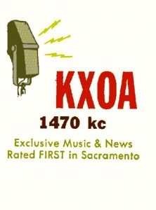 The original KXOA was one of Sacramento's early radio stations. It debuted at 1490 AM in 1945 and moved to 1470 AM three years later. Photo courtesy of George Junak
