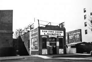 San Fong Chong Laundry was located at 814 I St. from about 1906 to about 1942. Photo courtesy of Sacramento Public Library, Sacramento Room