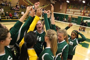 Shown here is a photograph taken from senior night at John F. Kennedy High School Women's Volleyball Team, which included a festive atmosphere prior to the game against Burbank High School on Nov. 3. Photo by Stephen Crowley