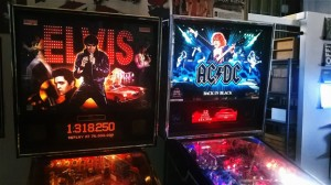 The Elvis and AC/DC pinball machines were getting a good workout at Phono Select Records. Photo by Greg Brown