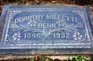 The grave of Dorothy Millette Bern is located at East Sacramento's East Lawn Memorial Park. / Photo by Lance Armstrong