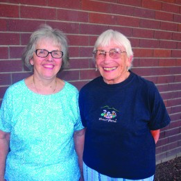 Former Tuesday Club of Sacramento members Nancy Leneis, left, and Anita O'Bryan met with the East Sacramento News in 2014 to discuss the decision to cease operations of the club, which met for many decades at the organization's clubhouse, just south of Sutter's Fort. / Photo by Lance Armstrong