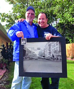 Rick and myself at his place where we each verified the authenticity of the other.  The small picture he holds is the shot of him and Humpty shown up close in the other photo.  The large photograph we hold together between us is the one Rick presented me with to test my authenticity.  We both passed each other's tests.