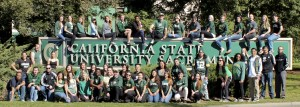 Sacramento State students showing their school spirit.