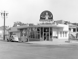 Gunther's Ice Cream parlor at 2801 Franklin Blvd. is shown in this 1949 photograph. Photo courtesy of Rick and Marlena Klopp