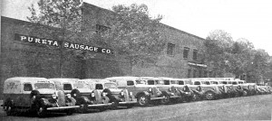 The Pureta Sausage Co. at Alhambra Boulevard and D Street is shown in this early 1930s photograph. Photo courtesy of the Lance Armstrong Collection