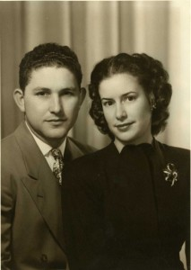 Marvin and Dolores Greenslate, shown in about 1946, have been married for 68 years. The couple met during their childhoods at California Junior High School – today's California Middle School. Photo courtesy of Dolores Greenslate