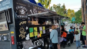 The Culinerdy Cruzer food truck was on location at the fundraiser for Georgia Kukowski, a mother of two who is undergoing cancer treatment not covered by her insurance. / Photos by Greg Brown