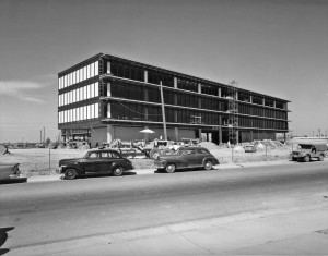 The under construction SMUD headquarters building at 6201 S St. is shown in this c. 1960 photograph./ Photo courtesy of SMUD